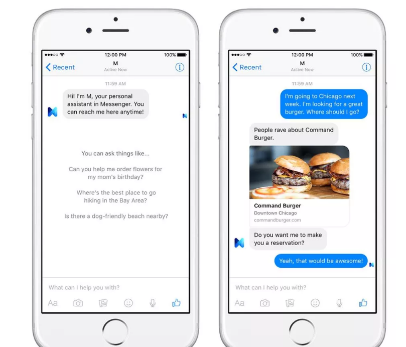 Facebook's virtual assistant